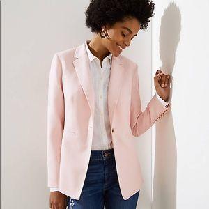Loft lightweight modern blazer blush pink